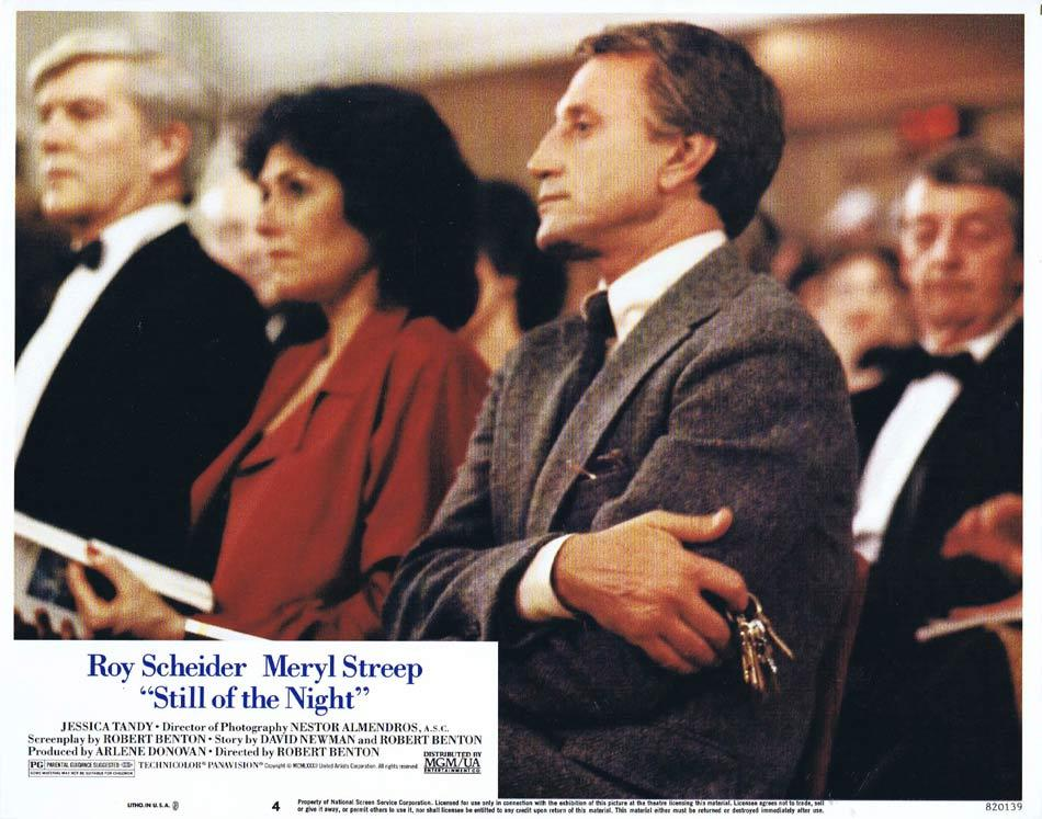 STILL OF THE NIGHT Lobby Card 4 Roy Scheider Meryl Streep Jessica Tandy