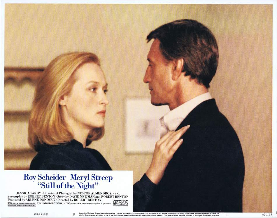 STILL OF THE NIGHT Lobby Card 8 Roy Scheider Meryl Streep Jessica Tandy