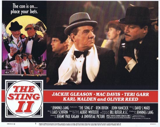 THE STING II Original Lobby Card 1 Karl Malden Oliver Reed