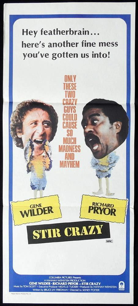 STIR CRAZY Original Daybill Movie Poster Gene Wilder Richard Pryor