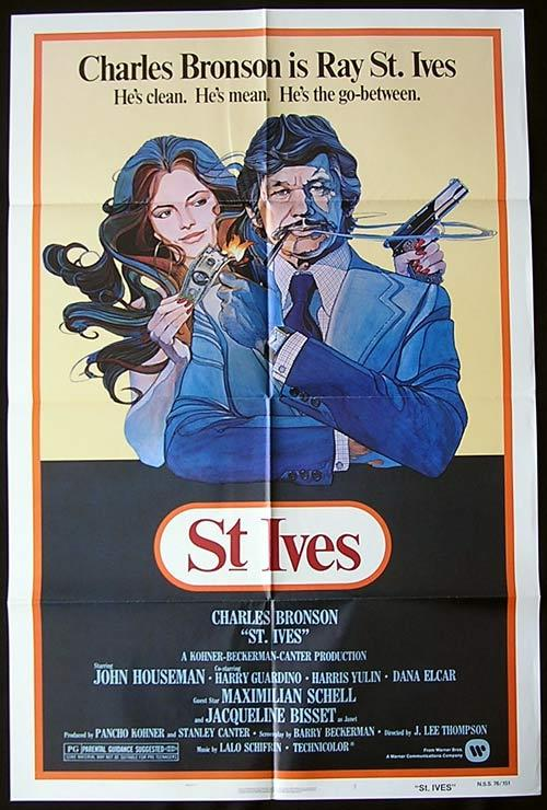 ST IVES Original One sheet Movie poster Charles Bronson