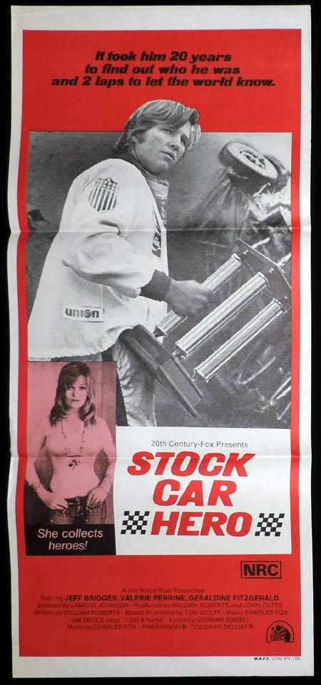 STOCK CAR HERO Original Daybill Movie Poster Motot Racing Last American Hero