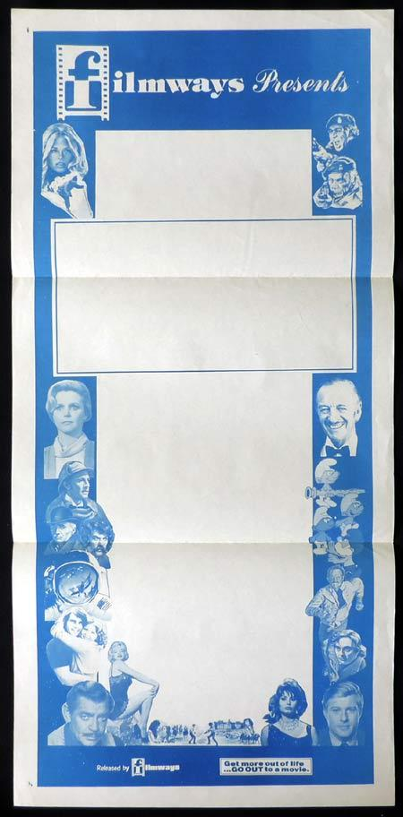 FILMWAYS Stock Blank Daybill Movie poster 1970s