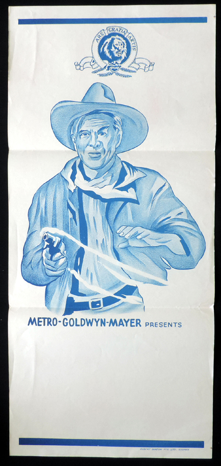 MGM Pictures STOCK Blank Western Daybill Movie poster 1960s