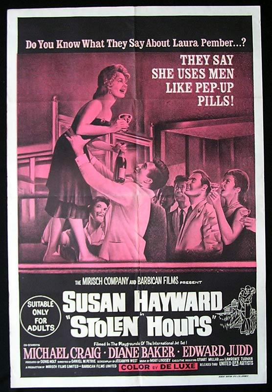 STOLEN HOURS One Sheet Movie Poster Susan Hayward