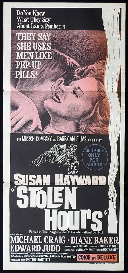 STOLEN HOURS Original Daybill Movie Poster Susan Hayward