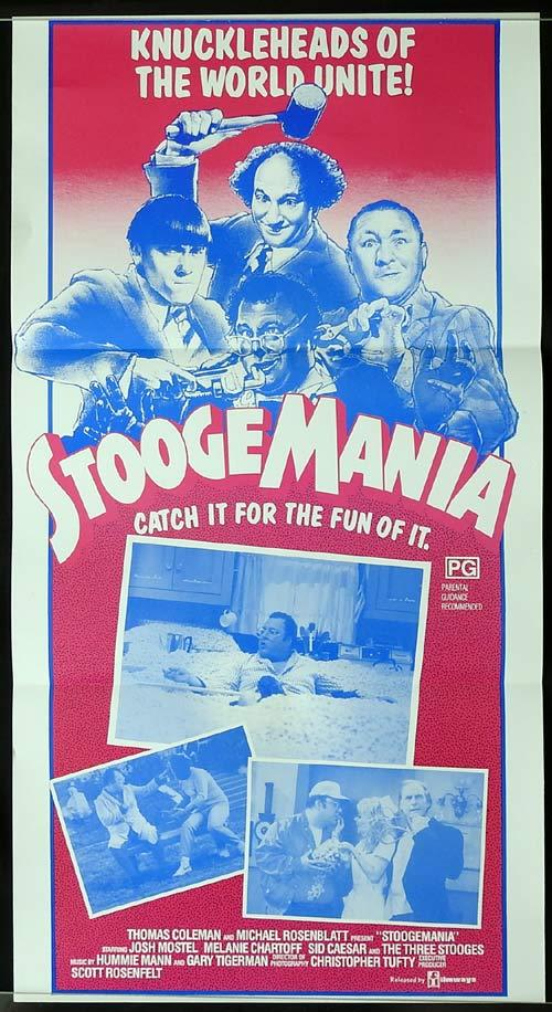 STOOGEMANIA Original Daybill Movie poster The Three Stooges