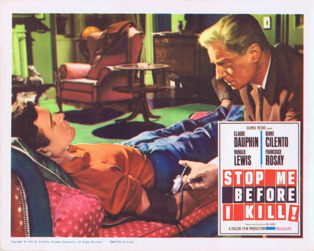 STOP ME BEFORE I KILL 1961 Dauphin Cilento Lobby card Claude Dauphin