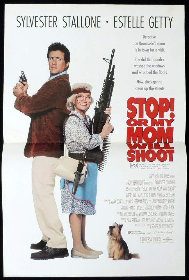 STOP OR MY MOM WILL SHOOT Original Daybill Movie Poster Sylvester Stallone