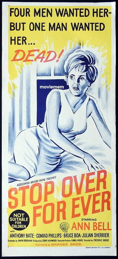 STOPOVER FOR EVER Original Daybill Movie Poster Ann Bell British Film Noir