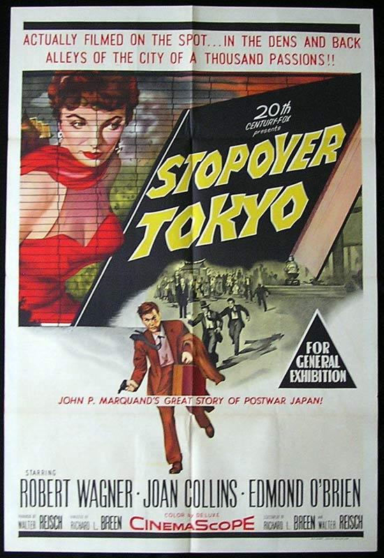 STOPOVER TOKYO One Sheet Movie Poster Joan Collins