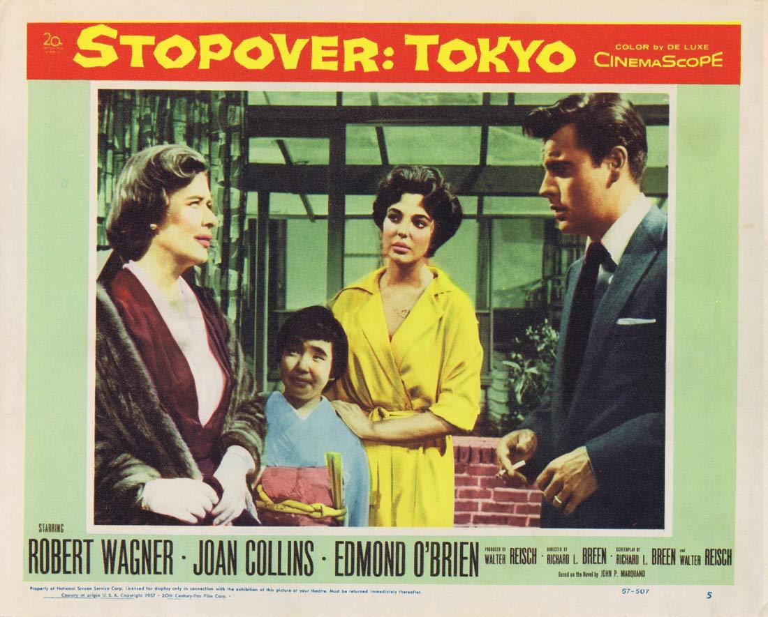 STOPOVER TOKYO Original Lobby Card 5 Robert Wagner Joan Collins
