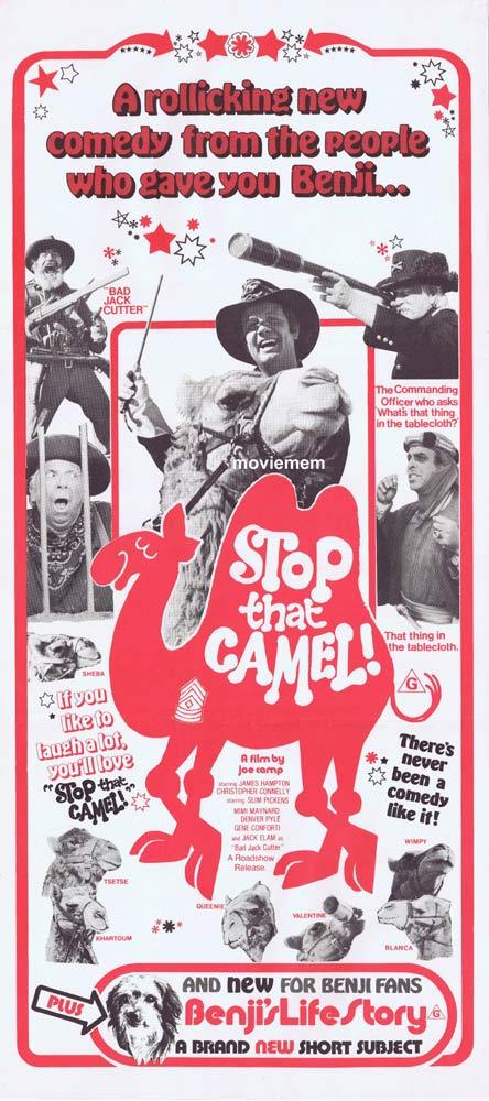 STOP THAT CAMEL aka HAWMPS! Original Daybill Movie poster Denver Pyle Joe Camp