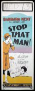 STOP THAT MAN Long Daybill Movie poster 1928 Universal Pictures