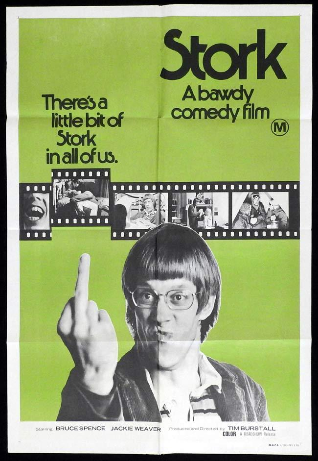 STORK Rare One sheet Movie poster Bruce Spence TIM BURSTALL