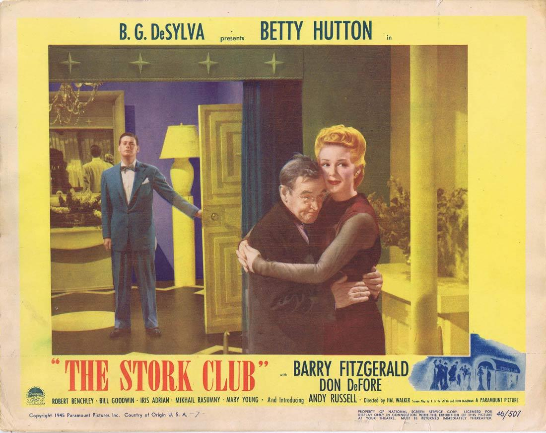 THE STORK CLUB Original Lobby Card Betty Hutton Barry Fitzgerald