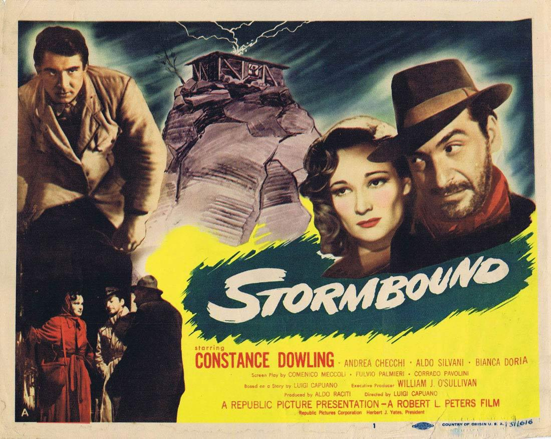 STORMBOUND Vintage Title Lobby Card Constance Dowling