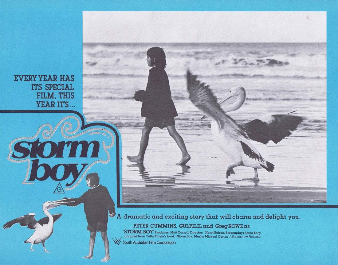 STORM BOY Original Lobby Card 2 Greg Rowe Gulpilil