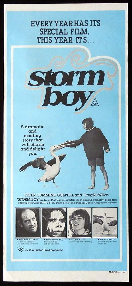 STORM BOY Daybill Movie Poster 1976 Greg Rowe Peter Cummins
