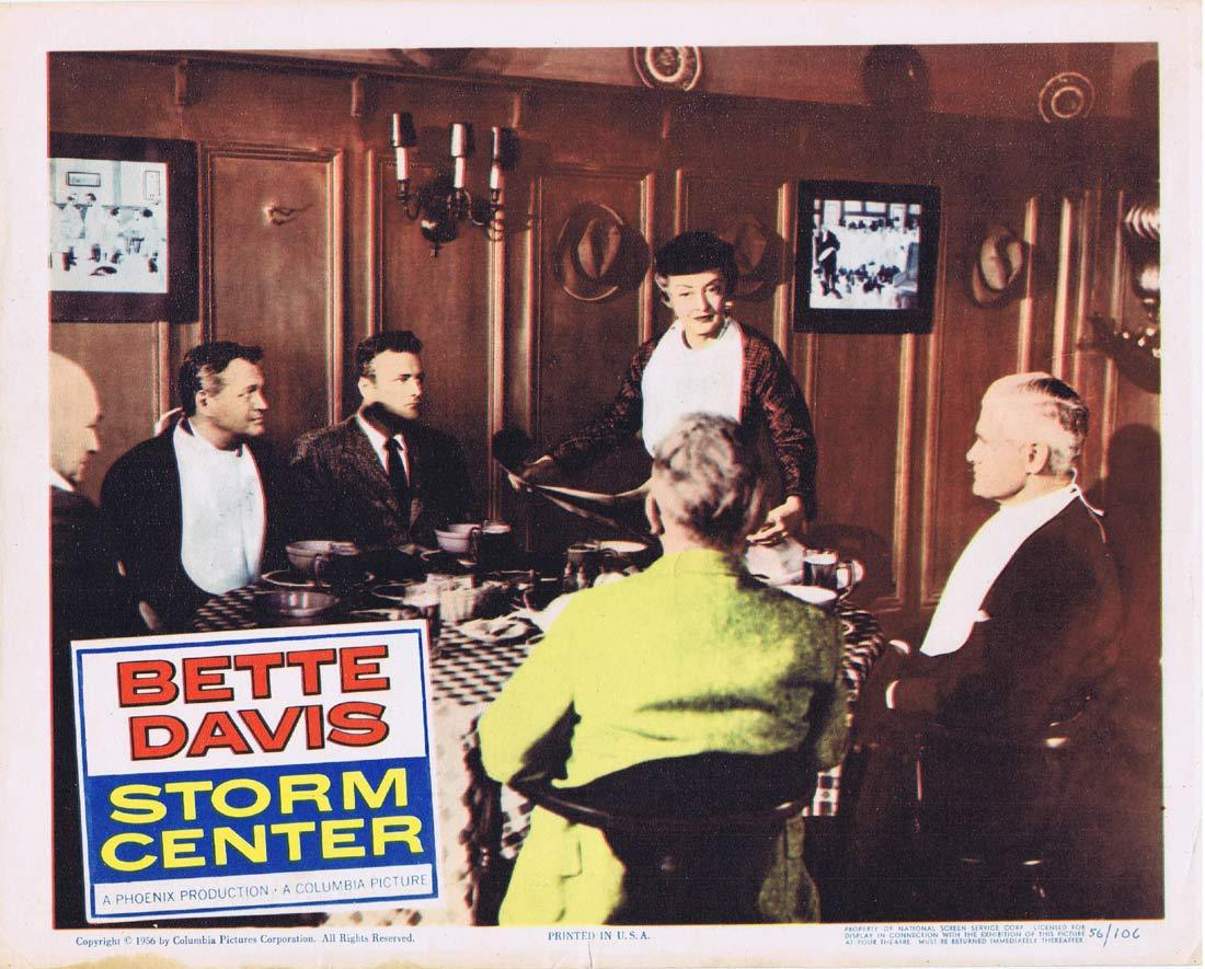 STORM CENTER Original Lobby Card 2 Bette Davis Brian Keith