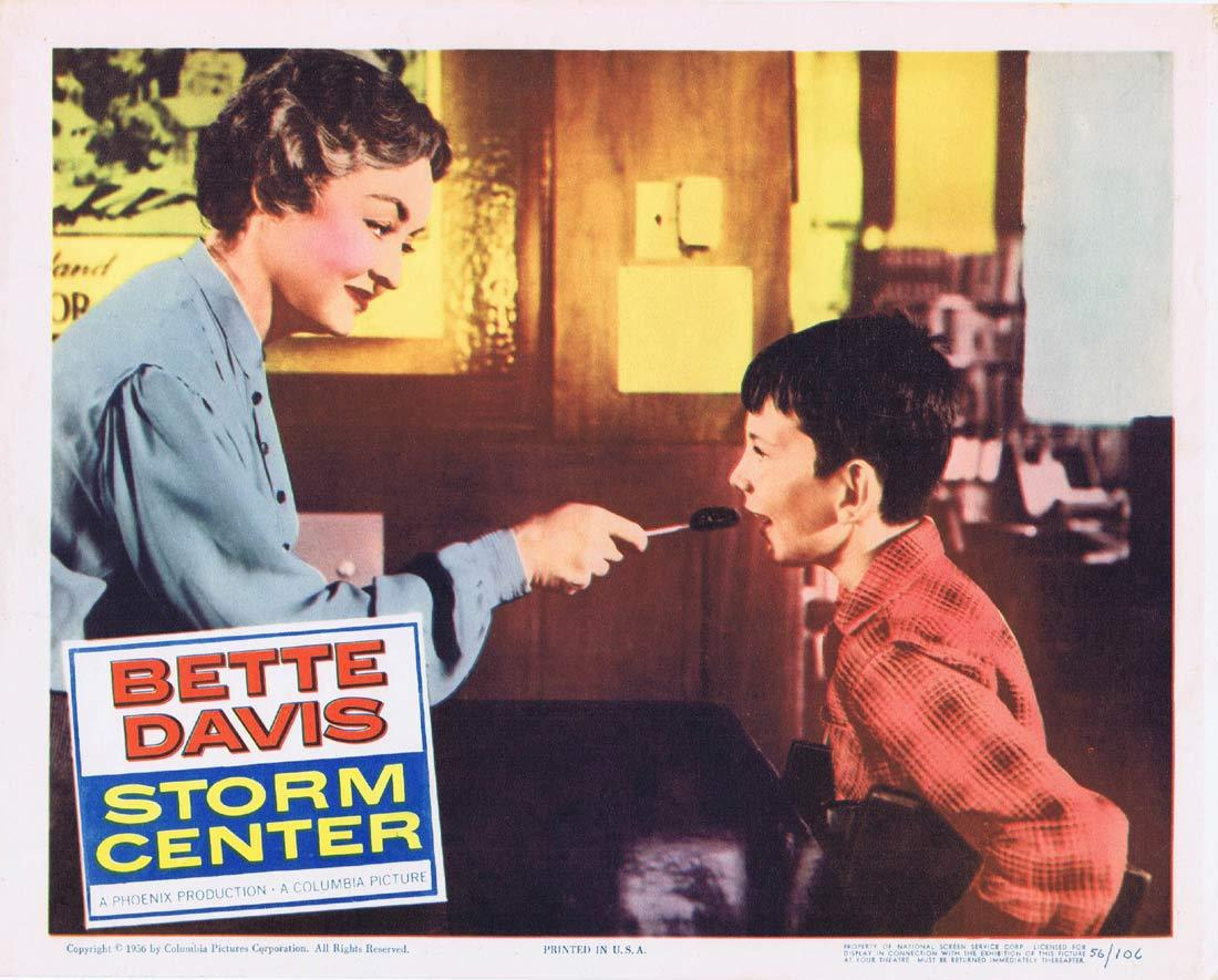 STORM CENTER Original Lobby Card 4 Bette Davis Brian Keith