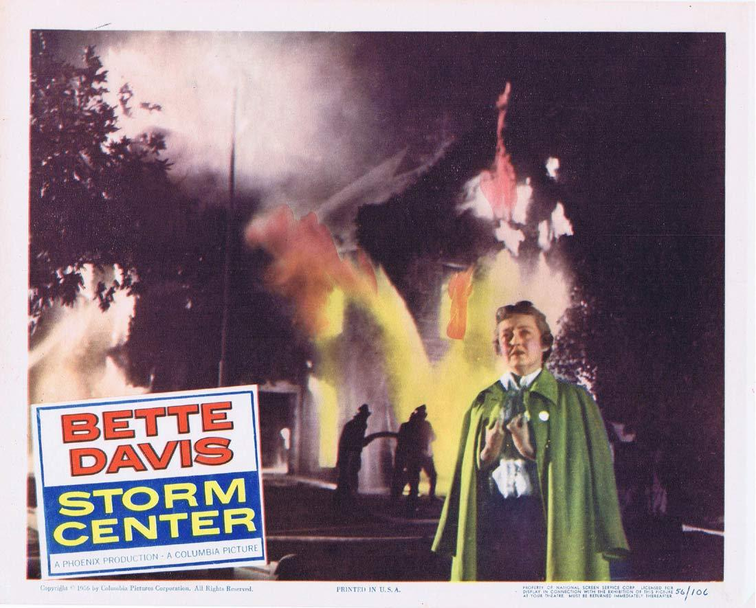 STORM CENTER Original Lobby Card 5 Bette Davis Brian Keith