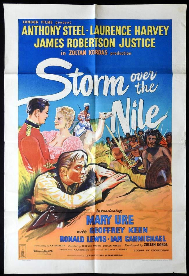 STORM OVER THE NILE Original One sheet Movie poster Anthony Steel Laurence Harvey