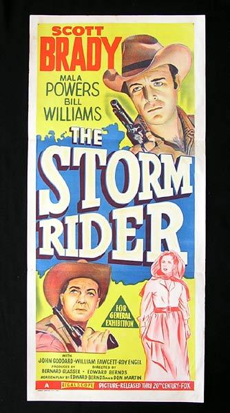 STORM RIDER Original Daybill Movie Poster Scott Brady Western Bill Williams