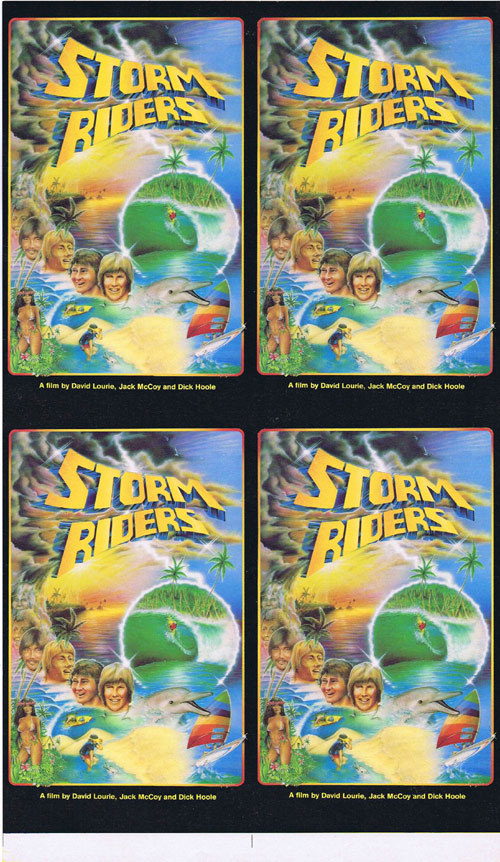 STORM RIDERS 1980 Rare ORIGINAL Surfing PRINTERS PROOF Movie poster