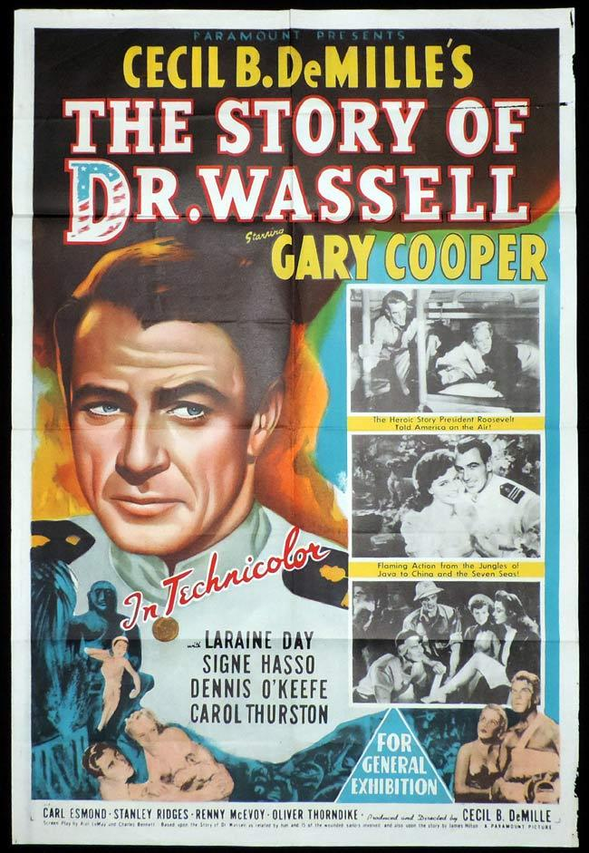 THE STORY OF DR WASSELL Original One sheet Movie Poster Gary Cooper Laraine Day Signe Hasso