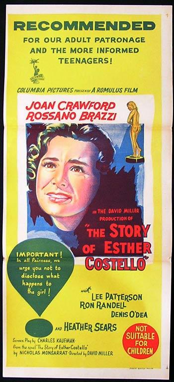 STORY OF ESTHER COSTELLO '57 Joan Crawford Movie poster