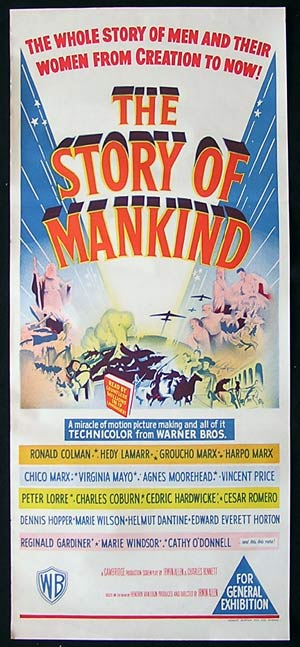 THE STORY OF MANKIND '57-Lorre-Marx-Colman poster