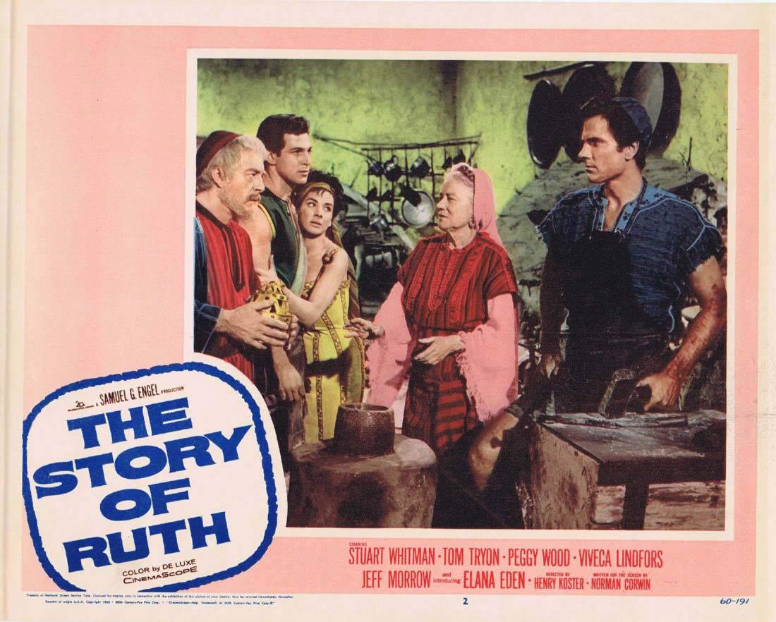 THE STORY OF RUTH Lobby card 2 Stuart Whitman Tom Tryon Viveca Lindfors