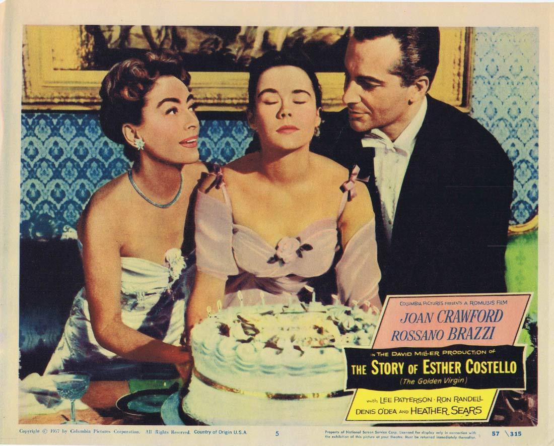 THE STORY OF ESTHER COSTELLO Original Lobby Card 5 Joan Crawford Rossano Brazzi