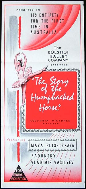 STORY OF THE HUMPBACKED HORSE Daybill Movie poster Bolshoi Ballet 60s