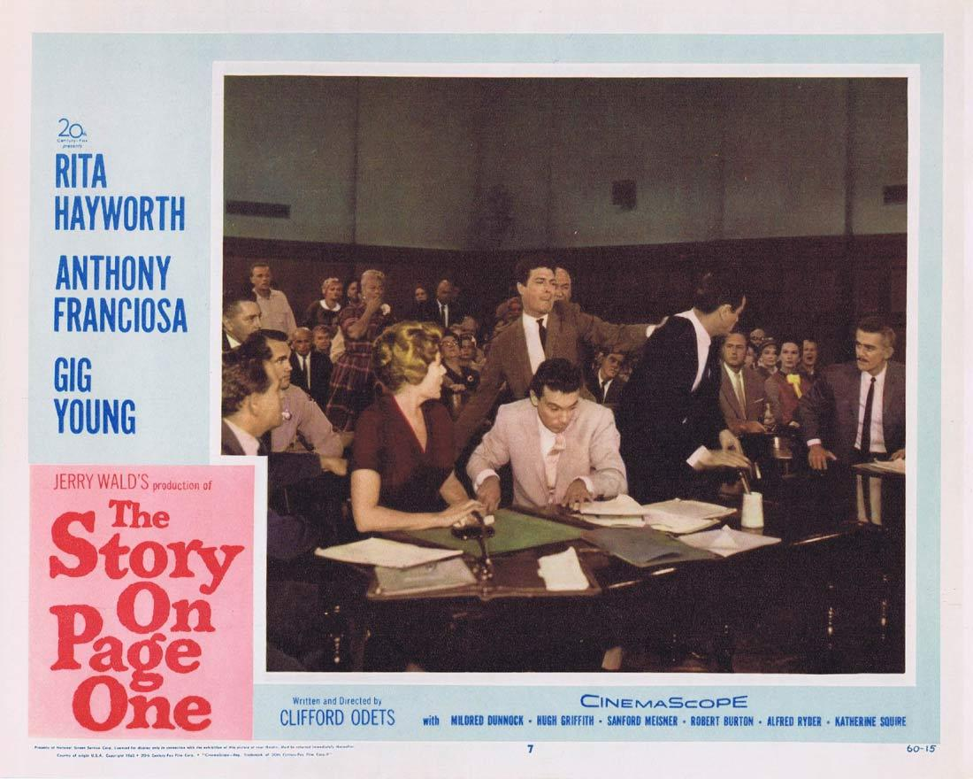 THE STORY ON PAGE ONE Lobby Card 7 Rita Hayworth Anthony Franciosa