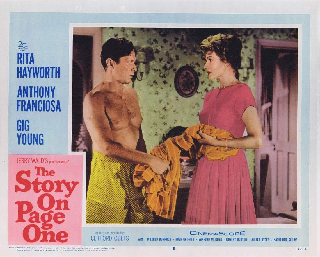 THE STORY ON PAGE ONE Lobby Card 8 Rita Hayworth Anthony Franciosa