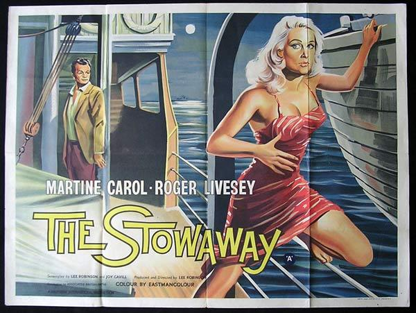 THE STOWAWAY 1958 Movie Poster MARTINE CAROL British Quad
