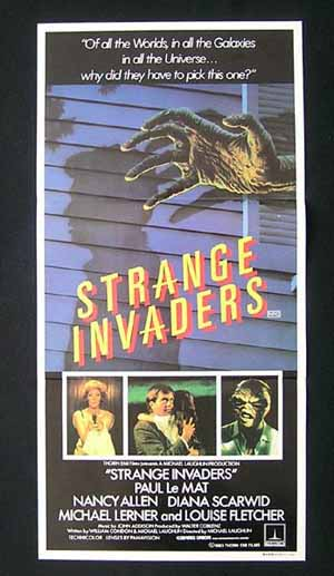 STRANGE INVADERS Original daybill Movie poster Paul Le Mat Sci FI