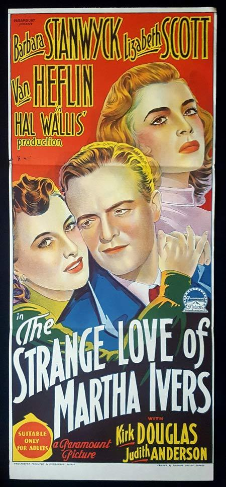 THE STRANGE LOVE OF MARTHA IVERS Original Daybill Movie Poster Barbara Stanwyck Film Noir