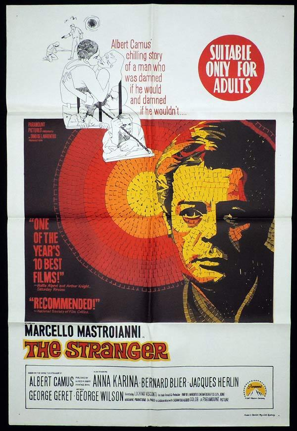 THE STRANGER One Sheet Movie Poster Marcello Mastroianni