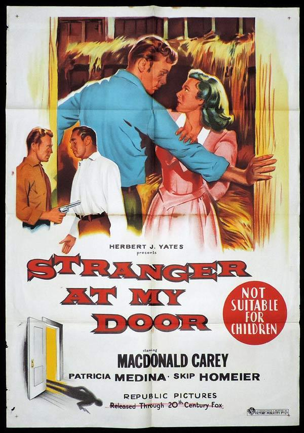 STRANGER AT MY DOOR One Sheet Movie Poster MacDonald Carey