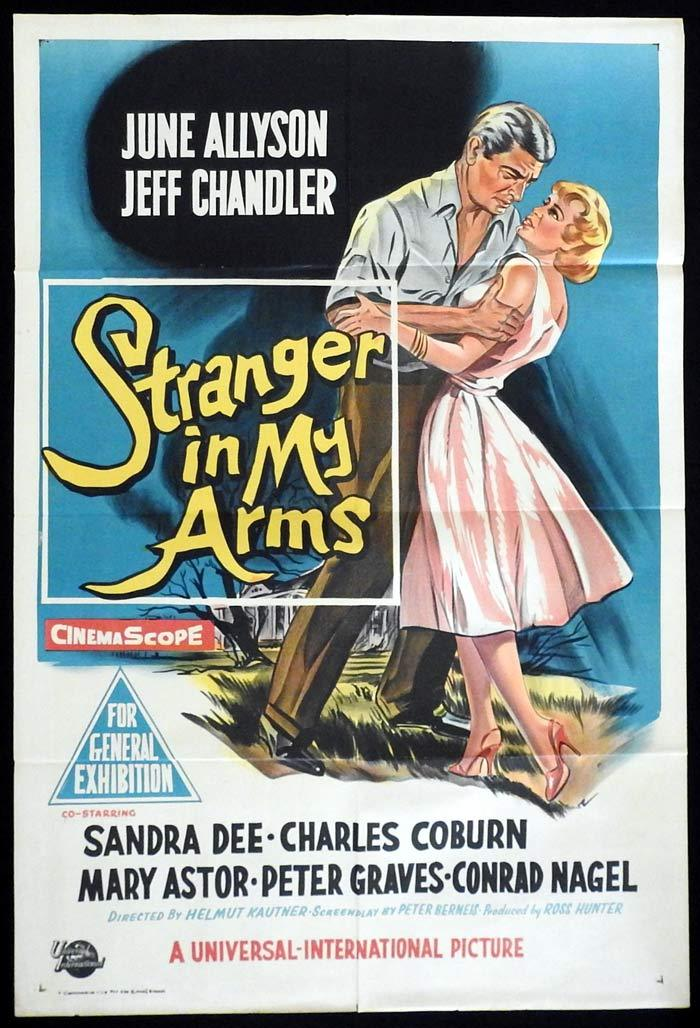 STRANGER IN MY ARMS Original One sheet Movie poster Jeff Chandler June Allyson