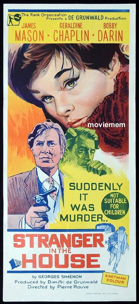 STRANGER IN THE HOUSE Original Daybill Movie Poster James Mason Geraldine Chaplin Bobby Darin