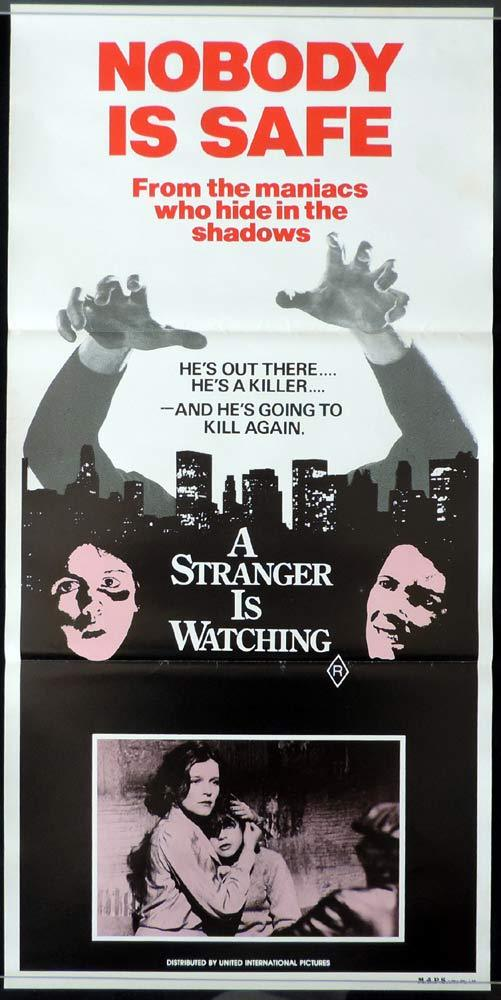 A STRANGER IS WATCHING Original Daybill Movie poster Kate Mulgrew Rip Torn