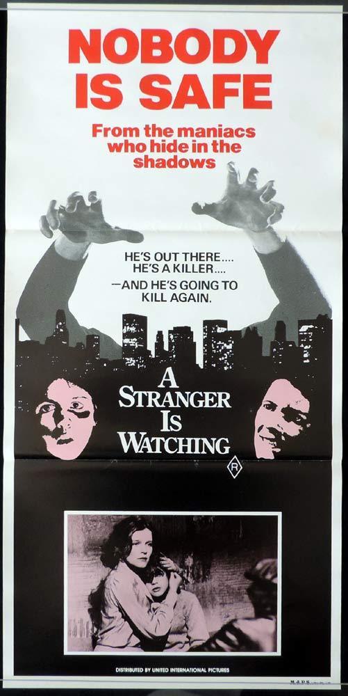 A STRANGER IS WATCHING Original Daybill Movie poster Kate Mulgrew Rip Torn