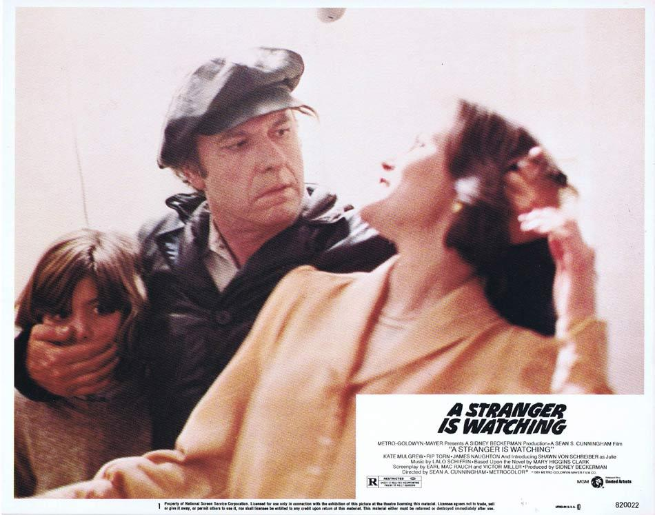 A STRANGER IS WATCHING Lobby Card 1 Kate Mulgrew Rip Torn James Naughton