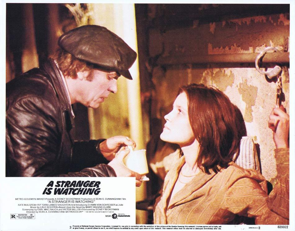 A STRANGER IS WATCHING Lobby Card 3 Kate Mulgrew Rip Torn James Naughton