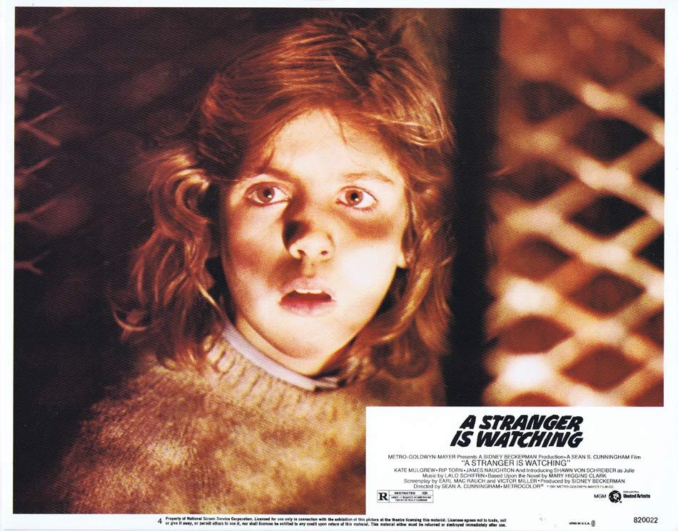 A STRANGER IS WATCHING Lobby Card 4 Kate Mulgrew Rip Torn James Naughton