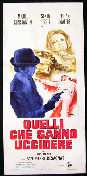THE STRANGER aka Les Étrangers Original Locandina Movie Poster Senta Berger ITALIAN Ciriello art